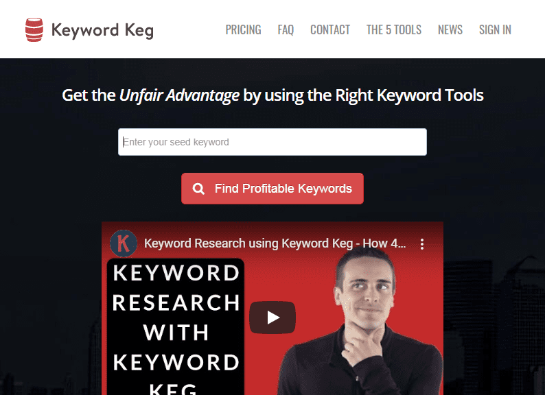 Get the Unfair Advantage by using the Right Keyword Tools