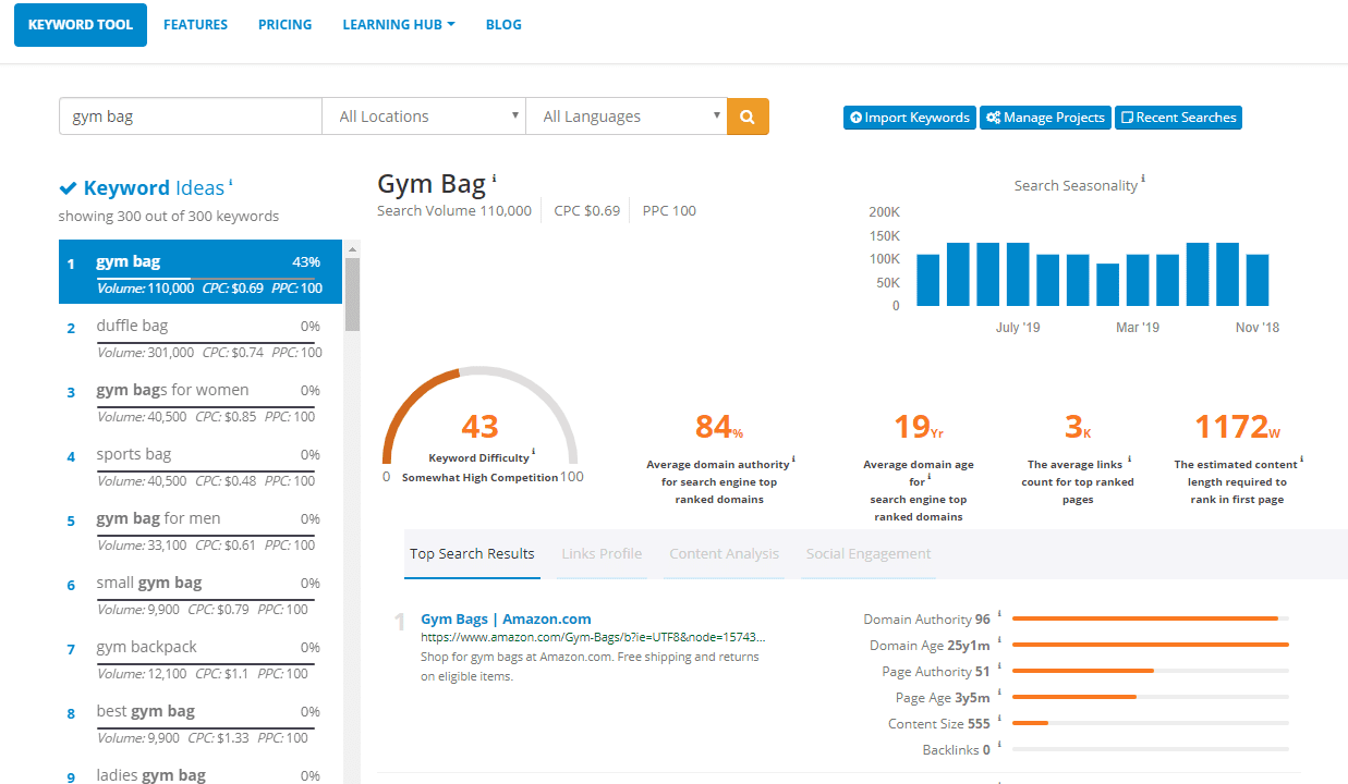 SEMScoop FREE Keyword Tool Keyword research and content analysis tool