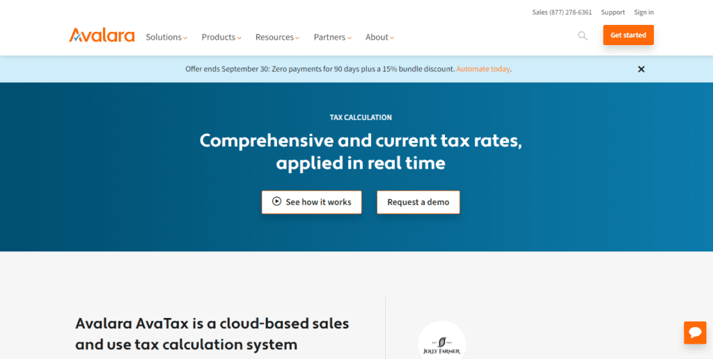 Avalara Avatax Automated Sales Tax Software