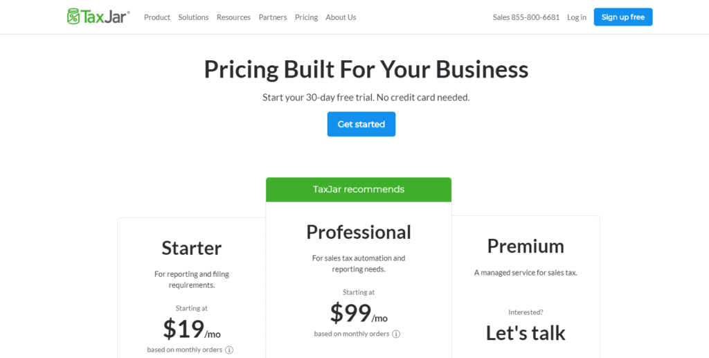 Pricing And Plans Taxjar