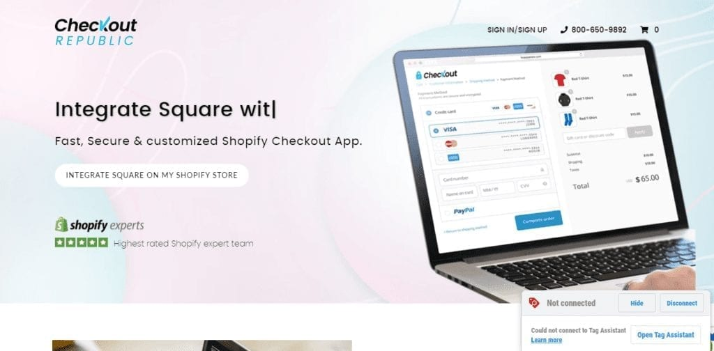 Integrate Square With Shopify Using Webinopoly's Checkout Republic