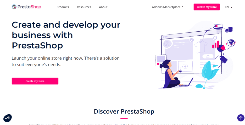 Create and develop your eCommerce website with PrestaShop