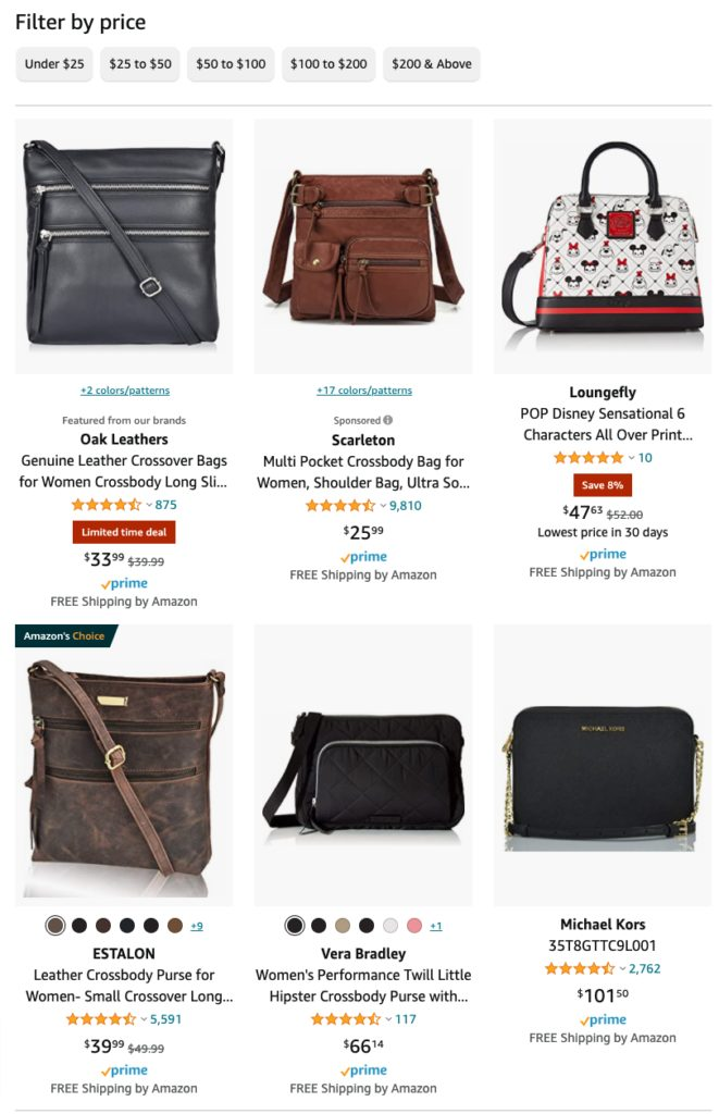Best products to sell on Amazon  crossbody purses