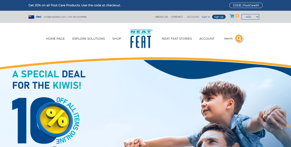 Neat Feat Homepage