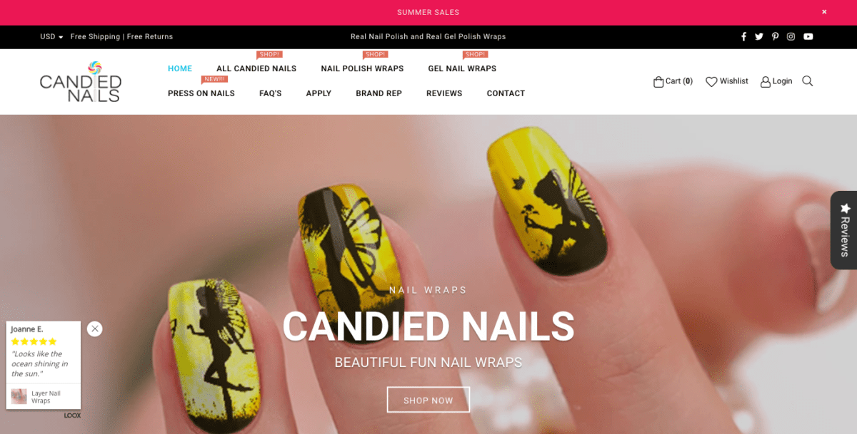 CandiedNails Homepage