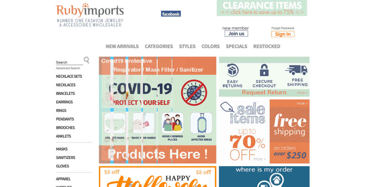 Ruby Imports Homepage